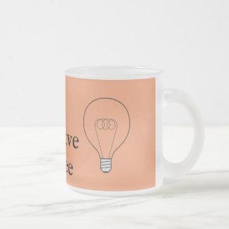 Taça de vidro Creative de Coffee com lâmpada Caneca De Vidro Fosco
