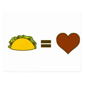Taco=Love Cartão Postal