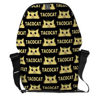 Tacocat Patterened Bolsa Mensageiro