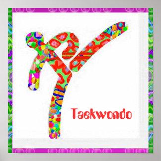 TAEKWONDO - passatempo, exercício, esportes Pôster