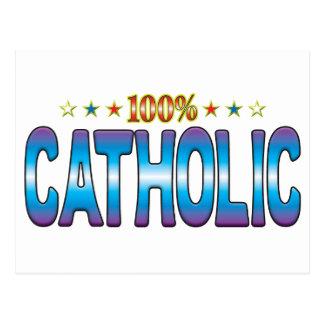 Tag católico v2 da estrela cartão postal
