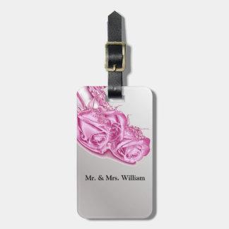 Tag cor-de-rosa bonito da bagagem do saco do casam tag para bagagem