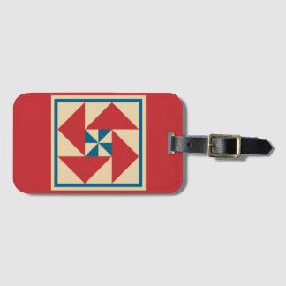 Tag da bagagem - bloco patriótico da edredão da etiqueta de bagagem