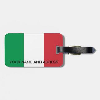Tag da bagagem com a bandeira de Italia Etiqueta De Bagagem