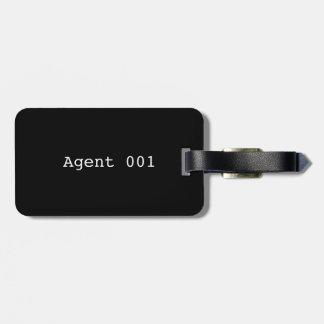 Tag da bagagem do agente 001 com correia de couro etiqueta de bagagem