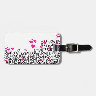 Tag da bagagem do amor do dia dos namorados etiqueta de mala de viagem