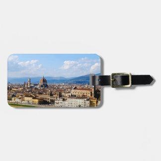 Tag da bagagem Florença Italia