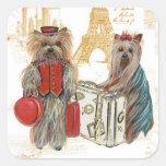 Tag das etiquetas de Paris da torre Eiffel de York Adesivo Em Forma Quadrada