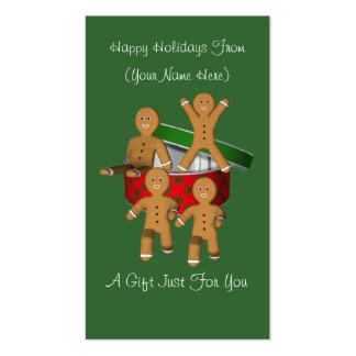 Tag do cartão de presente de época natalícia do cartão de visita