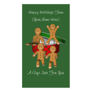 Tag do cartão de presente de época natalícia do Na Cartoes De Visita