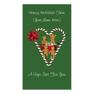 Tag do cartão de presente de época natalícia do Na Modelos Cartoes De Visitas