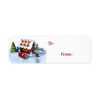 Tag do presente de época natalícia da Auto-Vara da Etiqueta Endereço De Retorno