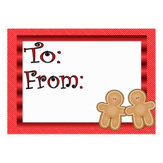 Tag do presente de época natalícia do pão-de-espéc cartões de visita