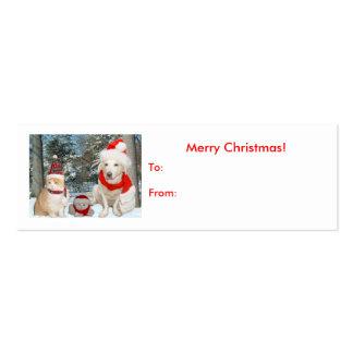 Tag do presente do Natal Cartão De Visita