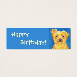 """Tag do presente do yorkshire terrier - """"Sammy """" Cartão De Visitas Mini"""