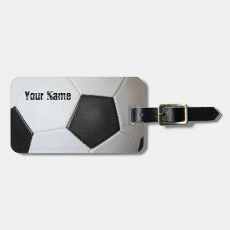 Tag do saco do futebol do futebol de associação tag de mala