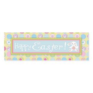 Tag magro do presente do coelho doce cartão de visita skinny