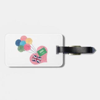 Tag saudita-britânico da bagagem tag de mala