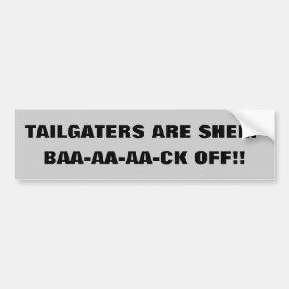 Tailgaters é o carneiro Baa-aa-aa-CK fora!! Adesivo Para Carro