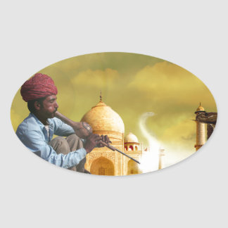Taj Mahal Adesivo Oval