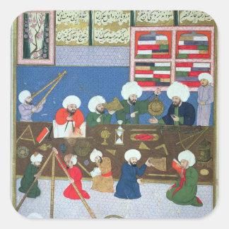 Takyuddin e outros astrónomos adesivo quadrado