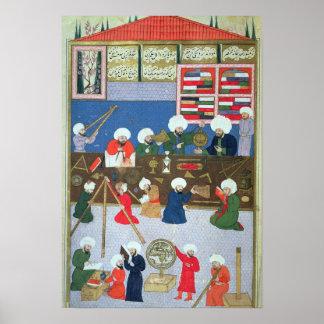 Takyuddin e outros astrónomos pôster