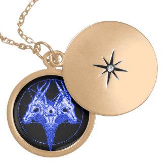 Talismã astral da porta de Baphomet Colar Medalhão