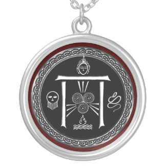 Talismã da porta do Druid Colar Banhado A Prata
