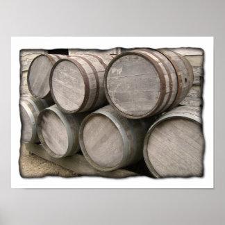 Tambores de madeira rústicos posteres