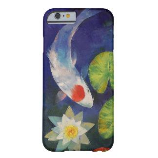 Tancho Koi e lírio de água Capa Barely There Para iPhone 6