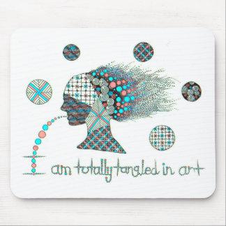 """""""Tangled totalmente no gráfico da arte Mouse Pad"""