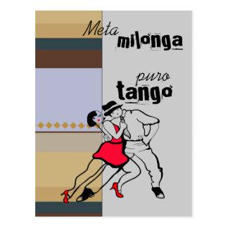 Tango de Milonga Puro do meta Cartão Postal