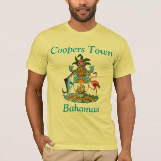 Tanoeiros cidade, Bahamas com brasão T-shirt