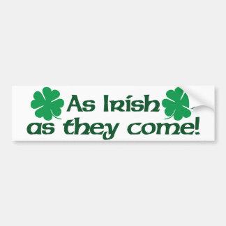 Tão irlandês como vêm! adesivo para carro