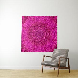 Tapeçaria cor-de-rosa da parede do caleidoscópio