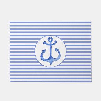 Tapete Âncora dos azuis marinhos & esteira de porta