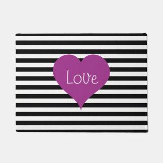 Tapete Coração cor-de-rosa do amor no teste padrão