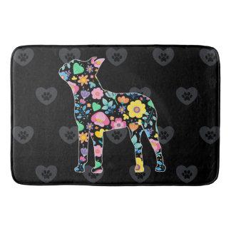 Tapete De Banheiro Amor bonito meu design floral de Boston Terrier