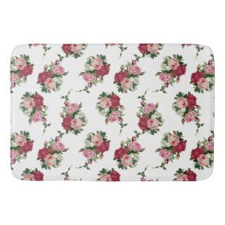 Tapete De Banheiro Branco chique, rosa e rosas vermelhas da casa de