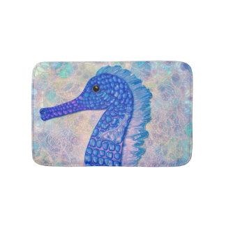 Tapete De Banheiro Cavalo marinho azul lunático com a esteira de