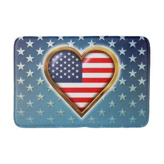 Tapete De Banheiro Coração americano