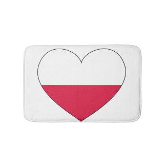 Tapete De Banheiro Coração da bandeira do Polônia