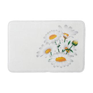 Tapete De Banheiro Esteira de banho com flores da camomila