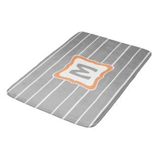 Tapete De Banheiro Esteira de banho do retângulo com monograma em 3