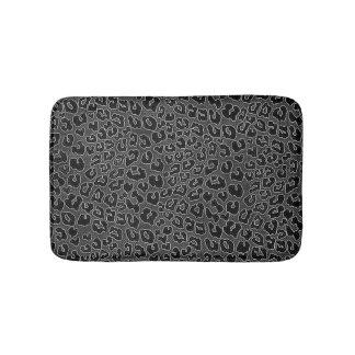 Tapete De Banheiro Impressão preto Stippled do leopardo