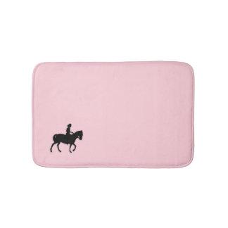 Tapete De Banheiro Menina no rosa do cavalo/pônei