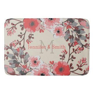 Tapete De Banheiro Monograma elegante floral #27 da aguarela do