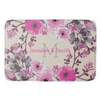 Tapete De Banheiro Monograma elegante floral #29 da aguarela do