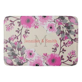 Tapete De Banheiro Monograma elegante floral #7 da aguarela do
