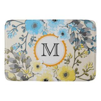 Tapete De Banheiro Monograma floral #14 da aguarela do vintage